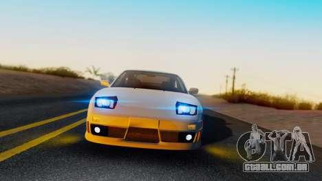 Nissan 180SX Type X para GTA San Andreas traseira esquerda vista
