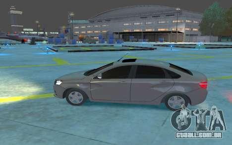 Lada Vesta para GTA 4 esquerda vista