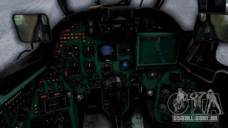 Mi-24V United Nations 032 para GTA San Andreas vista traseira