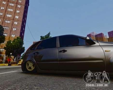 Lada Kalina para GTA 4 traseira esquerda vista