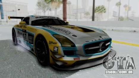 Mercedes-Benz SLS AMG GT3 PJ5 para GTA San Andreas vista traseira