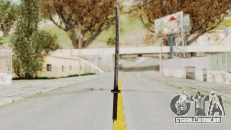 Skyrim Iron Wakizashi para GTA San Andreas