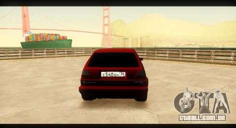 Volkswagen Golf GTI Mk2 para GTA San Andreas vista direita