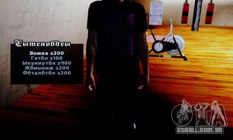 O vendedor de esteróides no ginásio para GTA San Andreas segunda tela