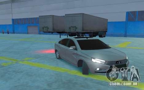 Lada Vesta para GTA 4 vista interior