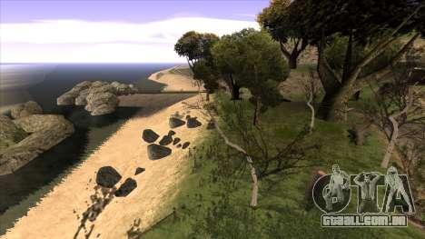 A construção da ponte, e uma densa floresta para GTA San Andreas sexta tela