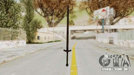 Skyrim Iron Sword para GTA San Andreas segunda tela