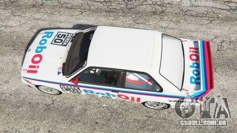 GTA 5 BMW M3 (E30) 1991 v1.3 voltar vista
