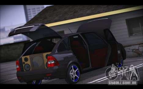 Lada Priora para GTA San Andreas vista inferior