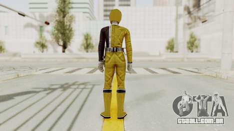 Power Rangers S.P.D - Yellow para GTA San Andreas terceira tela
