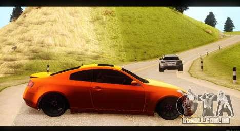 Infiniti G35 para GTA San Andreas esquerda vista