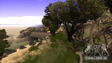 A construção da ponte, e uma densa floresta para GTA San Andreas sétima tela