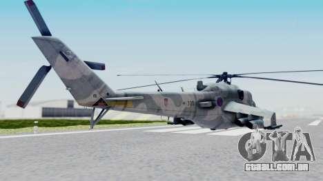 Mi-24V Croatian Air Force H-035 para GTA San Andreas esquerda vista