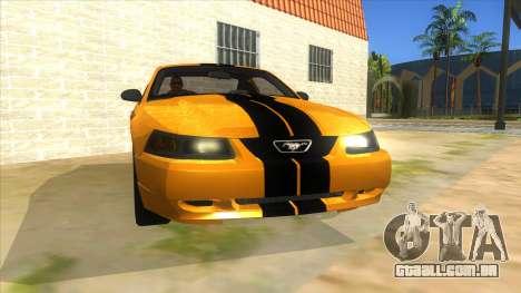 2003 Ford Mustang para GTA San Andreas vista traseira