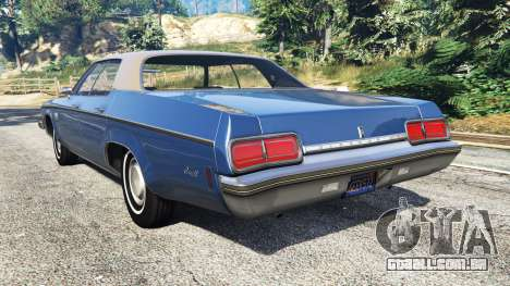 GTA 5 Oldsmobile Delta 88 1973 v2.0 traseira vista lateral esquerda