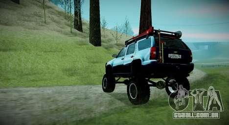 Chevrolet Tahoe LTZ 4x4 para GTA San Andreas traseira esquerda vista