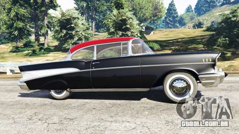 GTA 5 Chevrolet Bel Air Sport Coupe 1957 v1.5 vista lateral esquerda