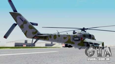 Mi-24V Soviet Air Force 14 para GTA San Andreas esquerda vista