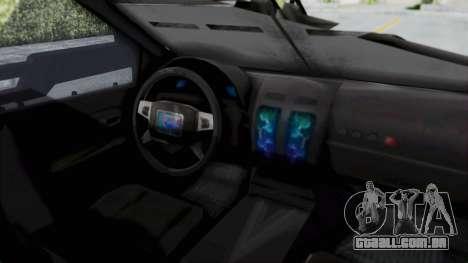 Advanced Warfare Tactical Pickup para GTA San Andreas vista direita