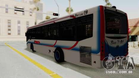 Todo Bus Pompeya II Agrale MT15 Linea 71 para GTA San Andreas esquerda vista