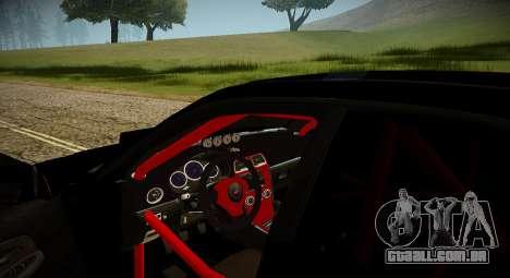 Subaru Impreza WRX STi Besta Negra Japão para GTA San Andreas vista interior