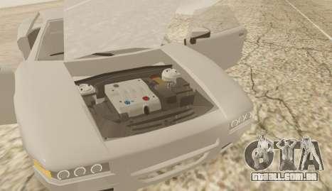 Infernus para GTA San Andreas traseira esquerda vista
