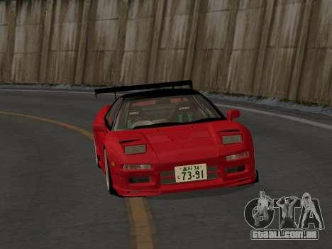 Honda NSX (NA1) Time Attack para GTA San Andreas vista traseira