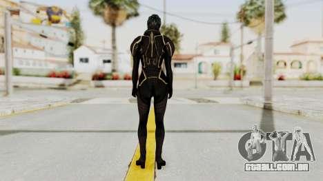 Mass Effect 2 Samara Black para GTA San Andreas terceira tela