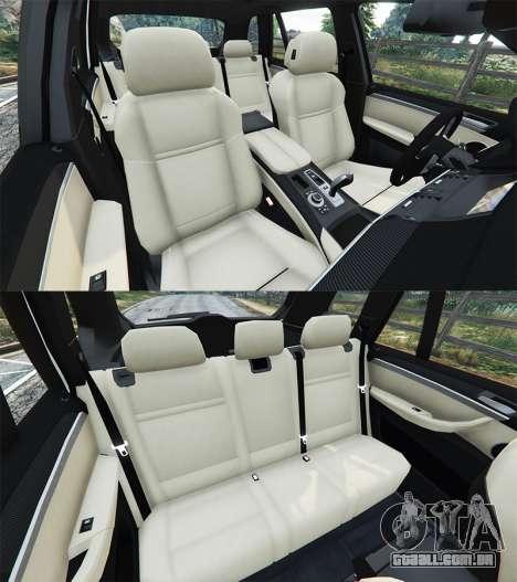 GTA 5 BMW X5 M vista lateral direita