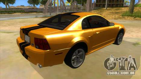 2003 Ford Mustang para GTA San Andreas vista direita