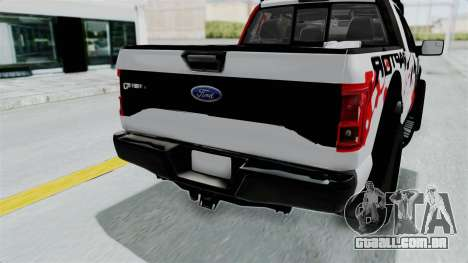 Ford F-150 Raptor 2015 para vista lateral GTA San Andreas