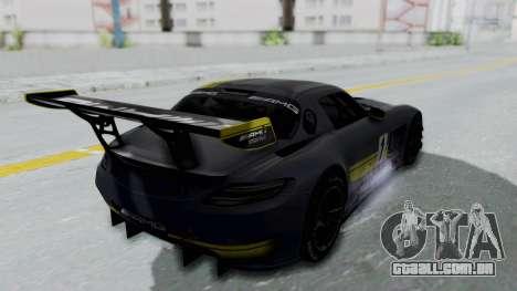 Mercedes-Benz SLS AMG GT3 PJ5 para as rodas de GTA San Andreas