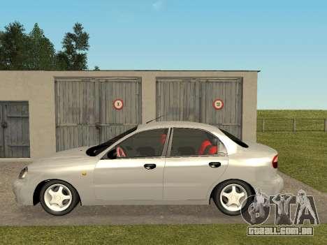 Daewoo Lanos (Sens) 2004 v1.0 by Greedy para GTA San Andreas esquerda vista