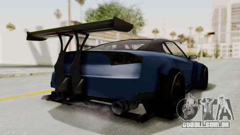 GTA 5 Annis Elegy Twinturbo Spec para GTA San Andreas traseira esquerda vista