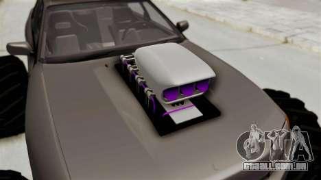 Nissan Skyline R32 4 Door Monster Truck para GTA San Andreas vista traseira