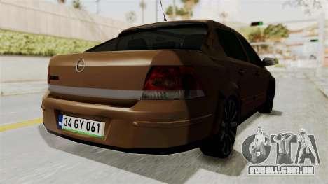 Opel Astra Sedan 2011 para GTA San Andreas traseira esquerda vista