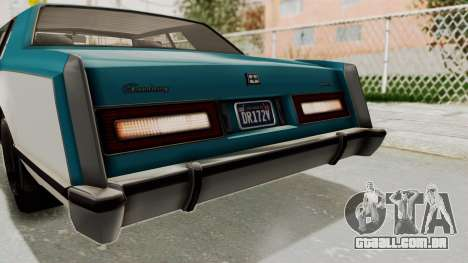 GTA 5 Dundreary Virgo Classic IVF para GTA San Andreas vista superior