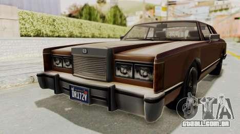 GTA 5 Dundreary Virgo Classic para GTA San Andreas traseira esquerda vista
