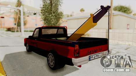 Mazda Tow Truck Pickup para GTA San Andreas vista direita