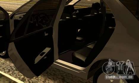 Mitsubishi Lancer 2005 para GTA San Andreas vista interior