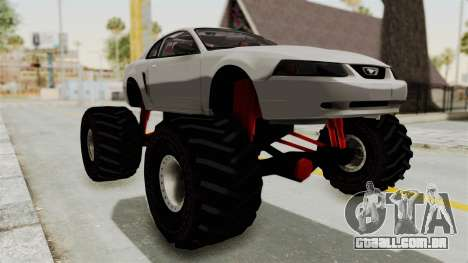 Ford Mustang 1999 Monster Truck para GTA San Andreas vista direita