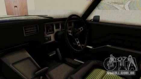 Holden Monaro GTS 1971 AU Plate IVF para GTA San Andreas vista interior
