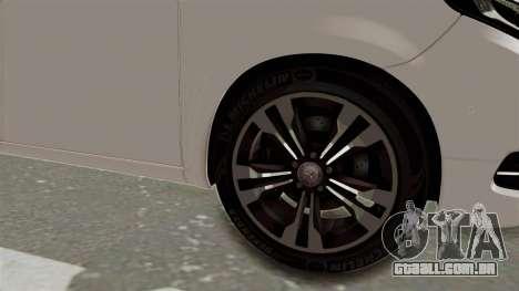 Mercedes-Benz V-Class 2015 para GTA San Andreas vista traseira