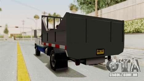GMC Sierra 3500 para GTA San Andreas traseira esquerda vista