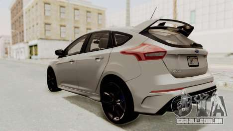 Ford Focus RS 2017 para GTA San Andreas esquerda vista
