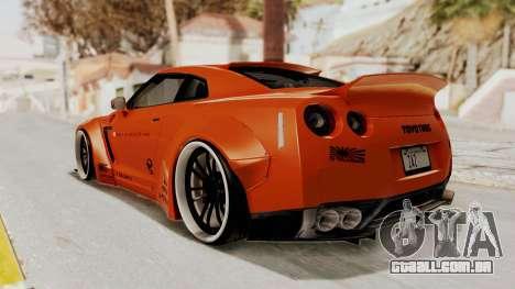 Nissan GT-R R35 Liberty Walk LB Performance para GTA San Andreas esquerda vista
