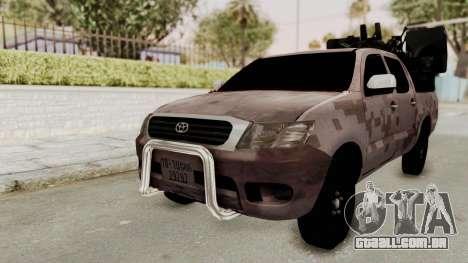 Toyota Hilux 2014 Army Libyan para GTA San Andreas