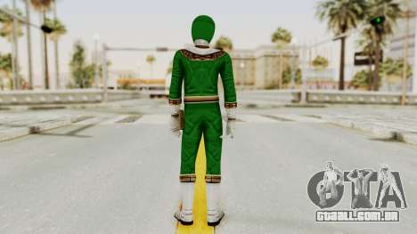 Power Ranger Zeo - Green para GTA San Andreas terceira tela
