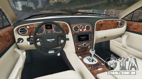 GTA 5 Bentley Continental Flying Spur 2010 traseira direita vista lateral