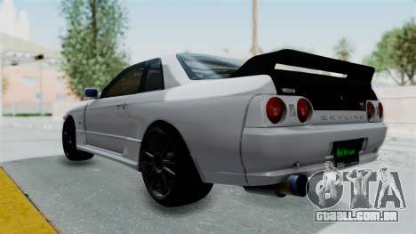 Nissan Skyline BNR32 Hot Version para GTA San Andreas esquerda vista